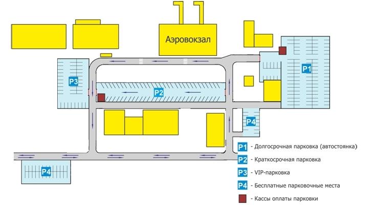 Парковка в аэропорту Талаги: стоимость стоянки и расположение