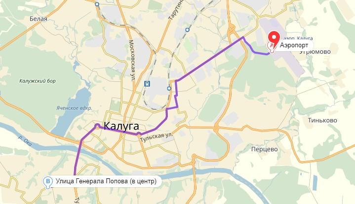 Маршрут автобуса №18: Калуга Аэропорт