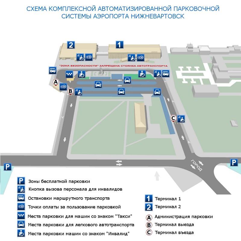 Стоянка в аэропорту Нижневартовска