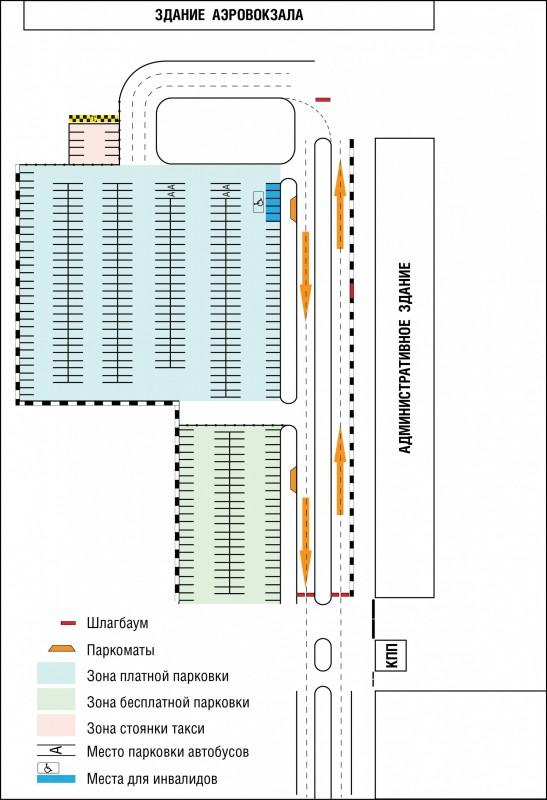 Схема парковки аэропорта Оренбург