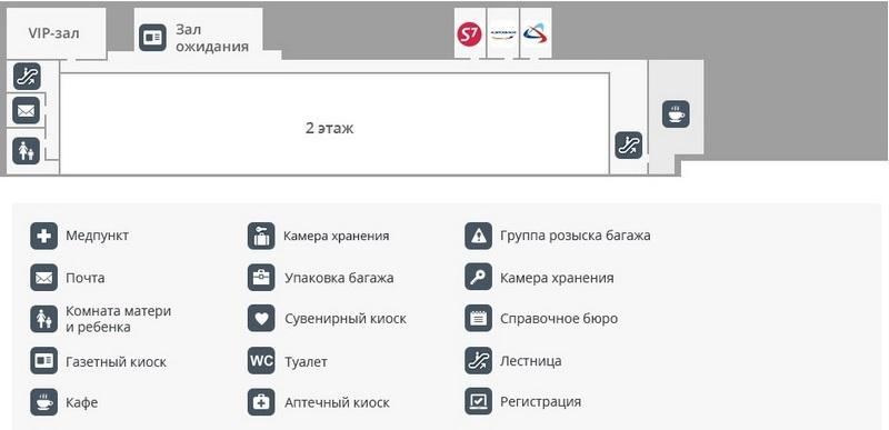 План 2 этажа аэропорта Пермь
