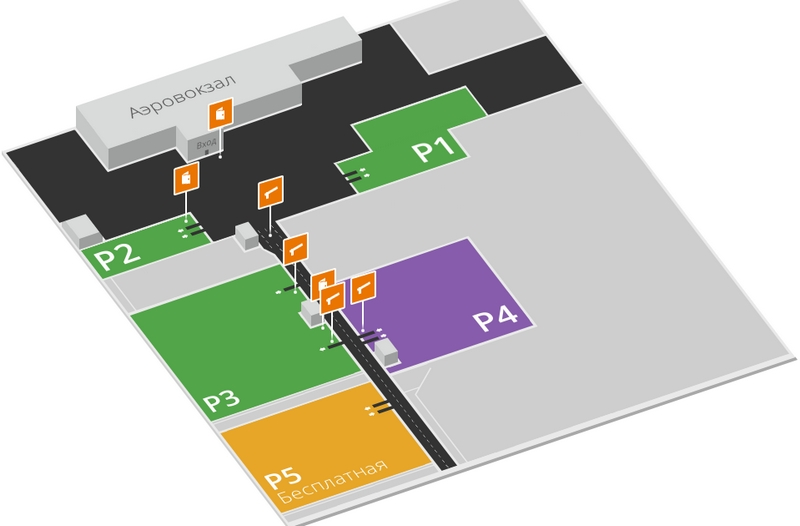 Аэропорт Пермь: план автостоянок