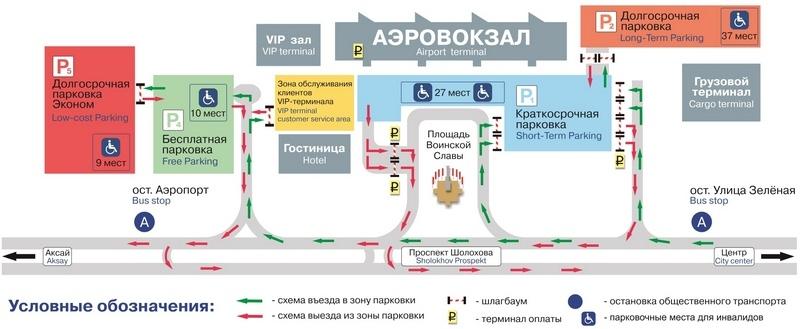 Парковка в аэропорту Ростова