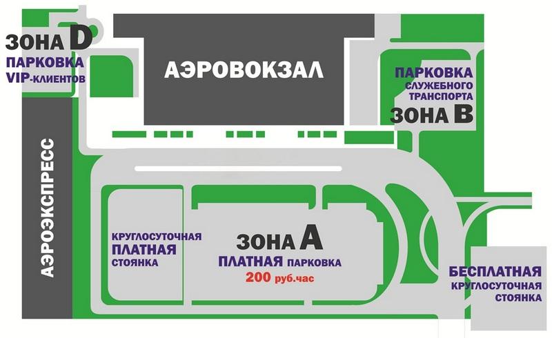Аэропорт Владивосток: схема парковок