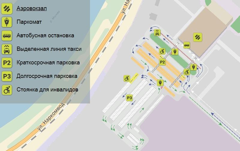 Парковки около аэропорта Жуковский