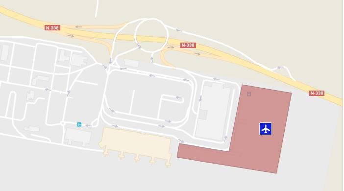 Схема аэропорта Аликанте