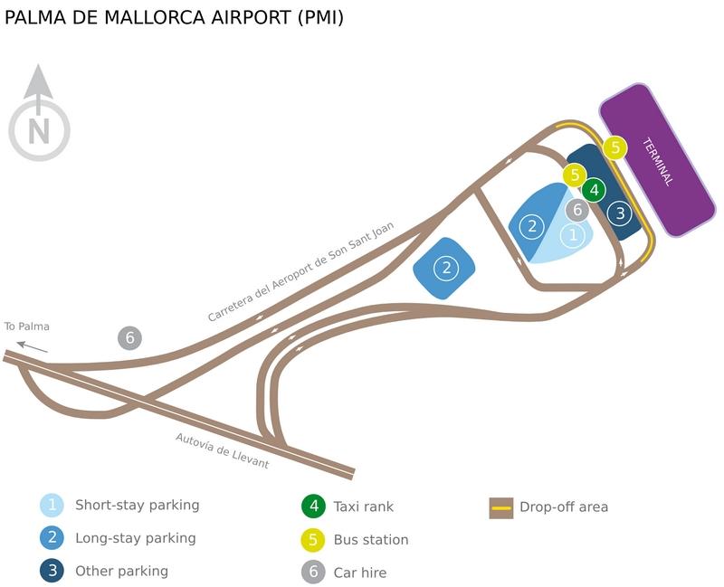 Терминалы аэропорта Майорки: схемы терминалов аэропорта