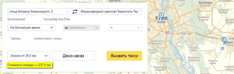 Такси Киев Борисполь аэропорт