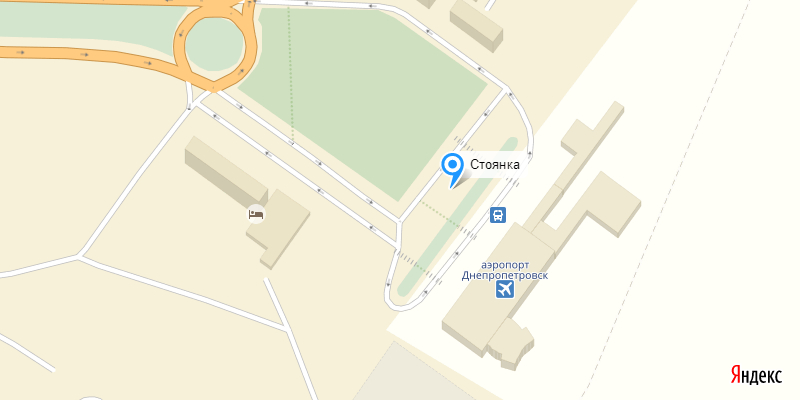 Стоянка в аэропорту Днепропетровск
