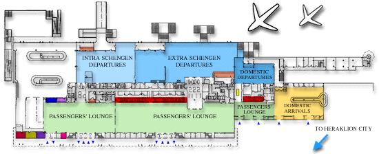 Схема аэропорта Ираклион, Крит