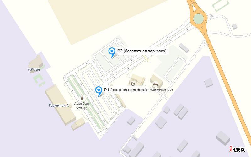 Парковка в аэропорту Махачкалы