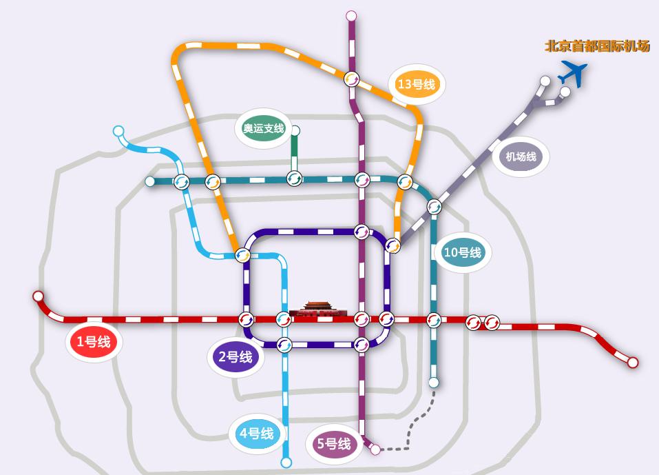 Схема метро Пекина