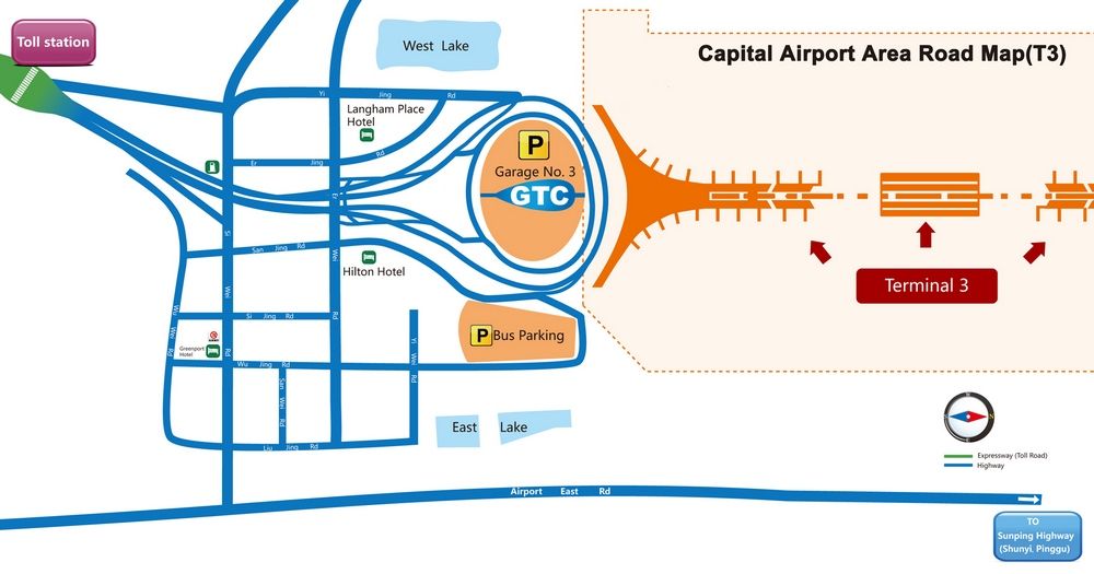 Схема терминала Т3 аэропорта Пекин