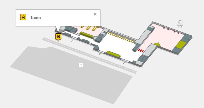 Стоянка такси аэропорта Реус