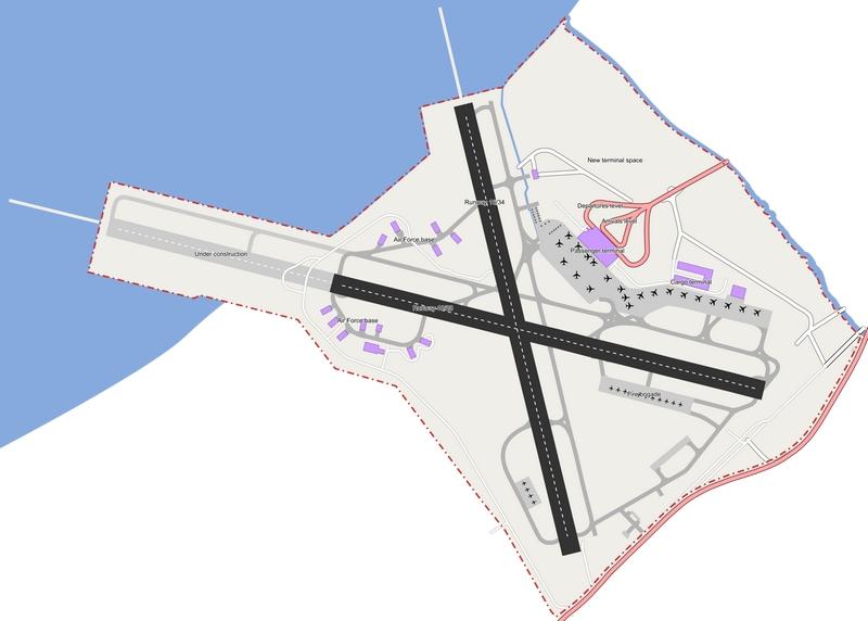 Схема международного аэропорта Салоники