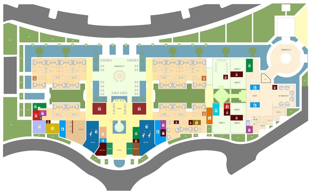 Схема аэропорта Санья: VIP терминал, 1 этаж