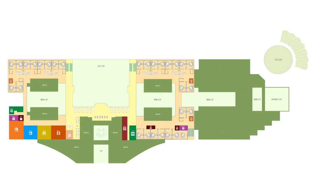 Схема аэропорта Санья: VIP терминал, 2 этаж