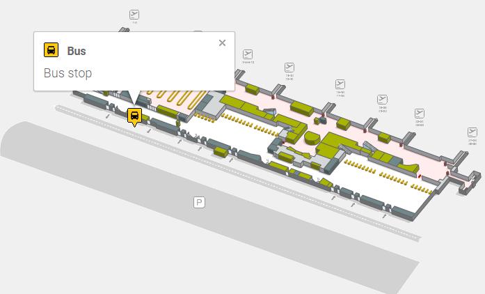 Автобусная остановка в аэропорту Тенерифе Южный
