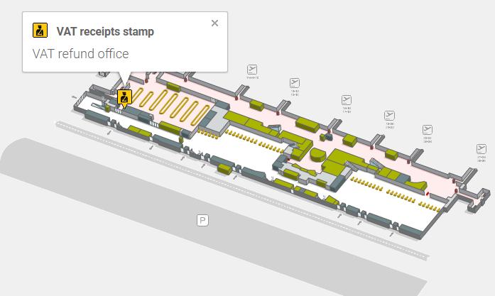 VAT refund office аэропорта Тенерифе Южный