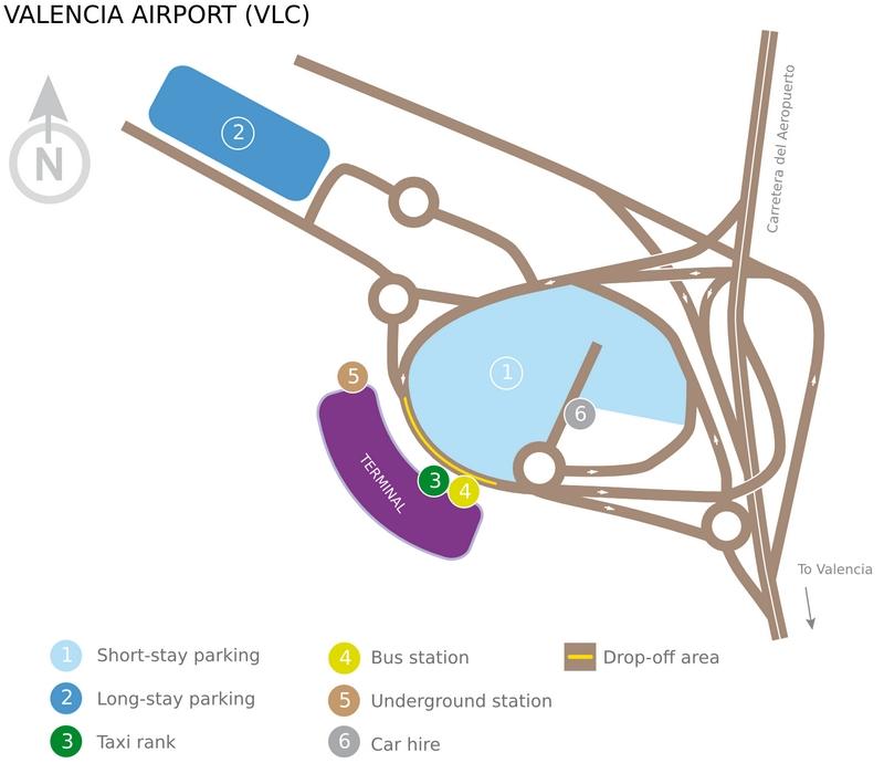 Схема аэропорта Валенсии
