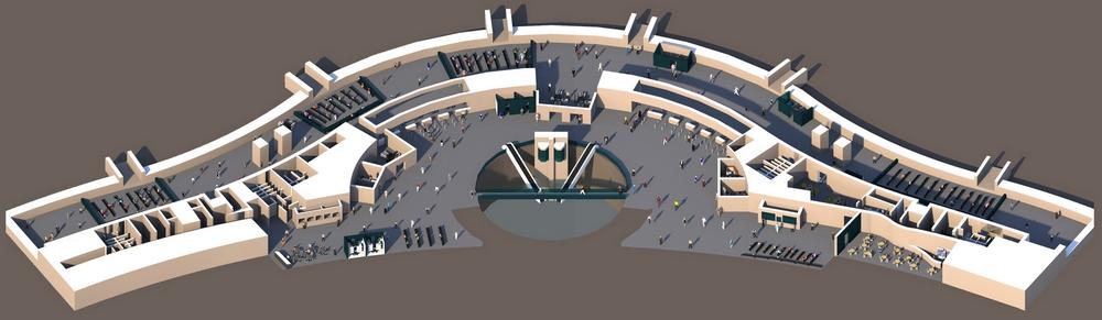 Аэропорт Астана: схема пассажирского терминала, 2 этаж