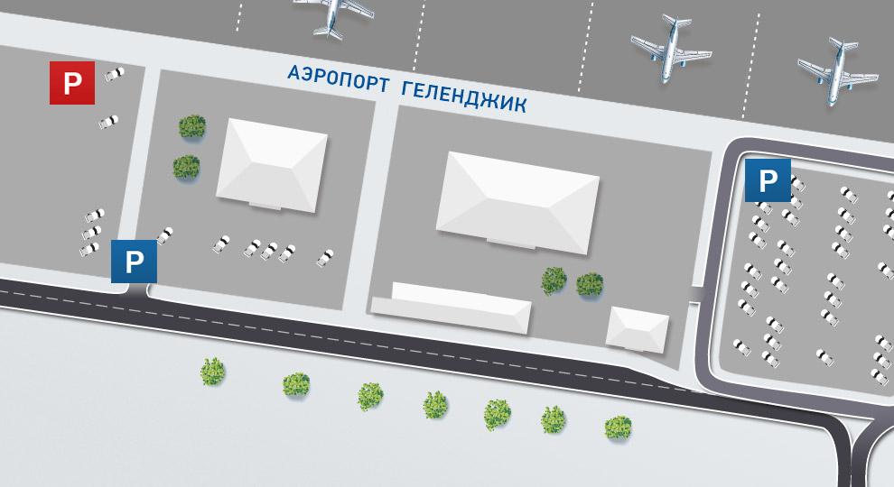 Парковка в аэропорту Геленджик