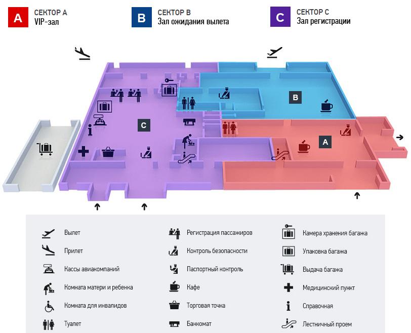 Аэропорт Геленджик: схема аэровокзала