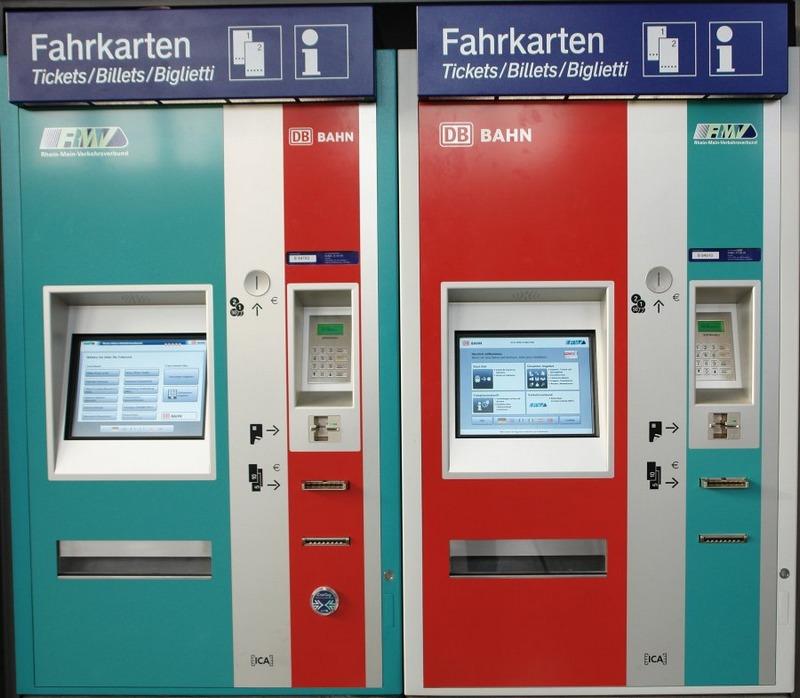 Автоматы по покупке билетов на поезда из аэропорта Франкфурта