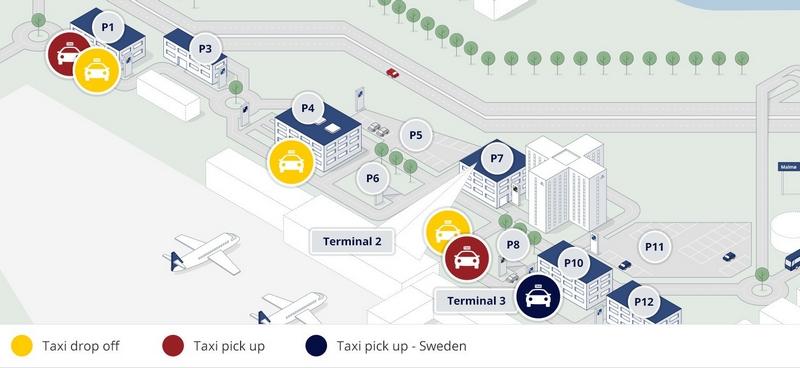 Такси в аэропорту Копенгагена