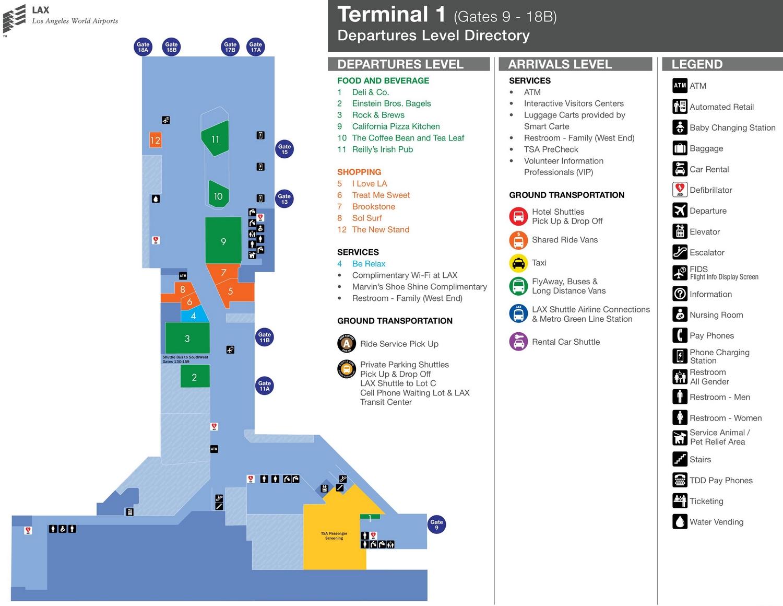 Терминал 1 аэропорта Лос-Анджелеса