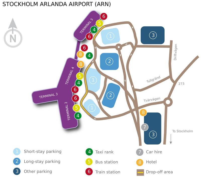 Схема аэропорта Стокгольма Арланда