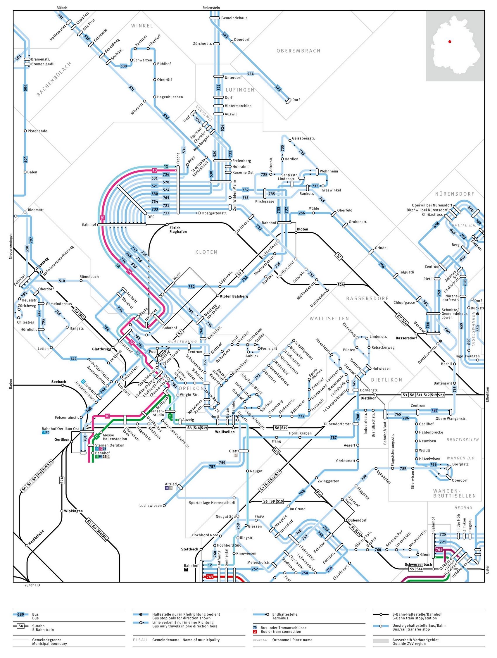 Общественный транспорт аэропорта Цюриха