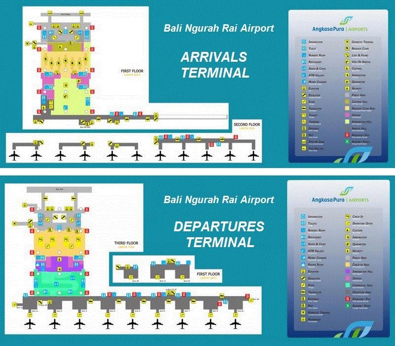 Схема международного терминала аэропорта Денпасар