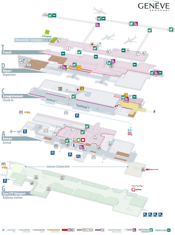 Схема аэропорта Женевы Куантран