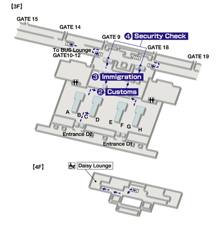 Схема аэропорта Камрань: зона вылета
