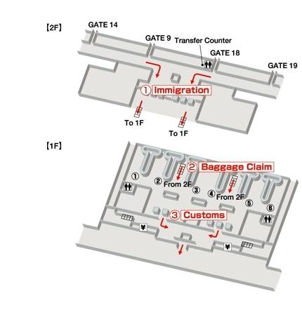 Схема аэропорта Камрань: зона прилета