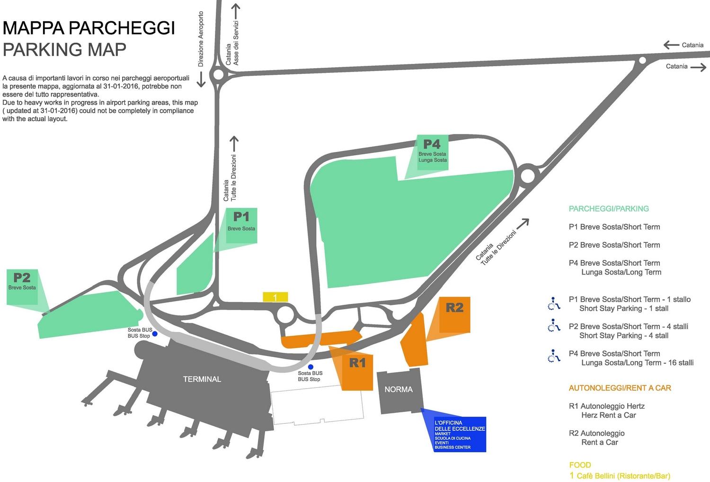 Схема аэропорта Катании