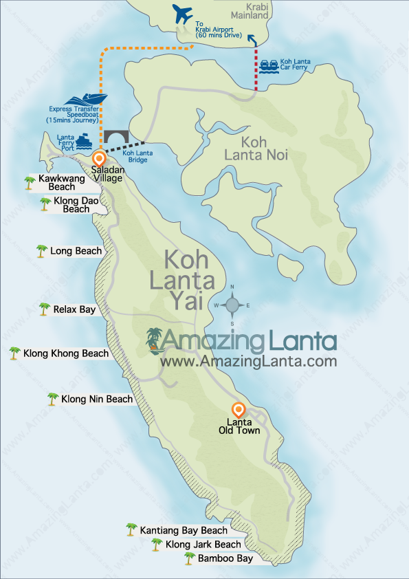 Как добраться из аэропорта Краби до острова Ланта