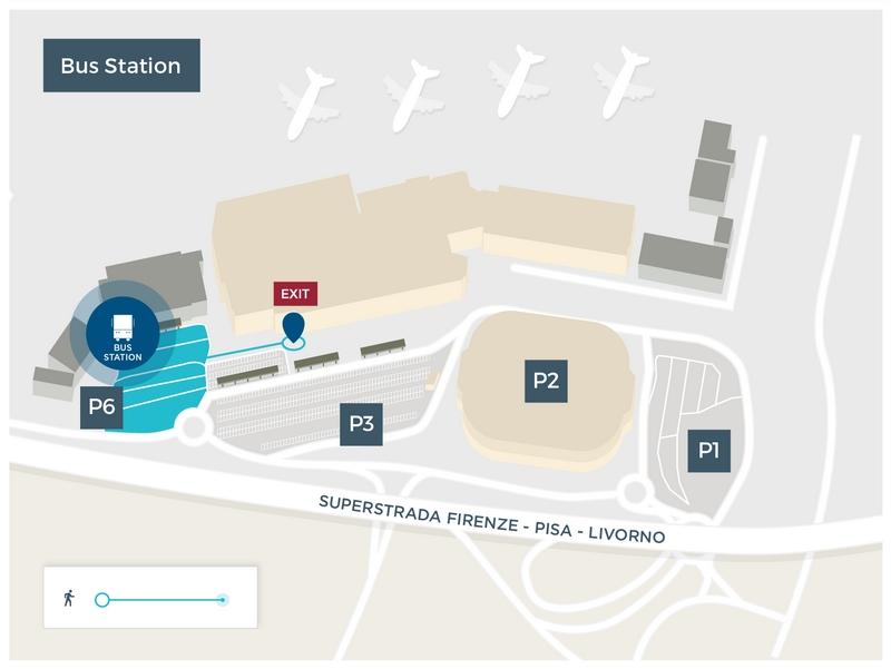 Автобусная остановка в аэропорту Пизы