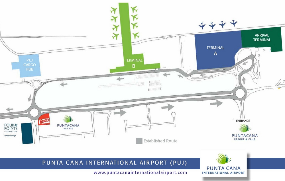 Схема аэропорта Пунта-Каны