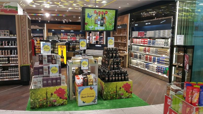 Магазин Дьюти Фри в аэропорту Варны