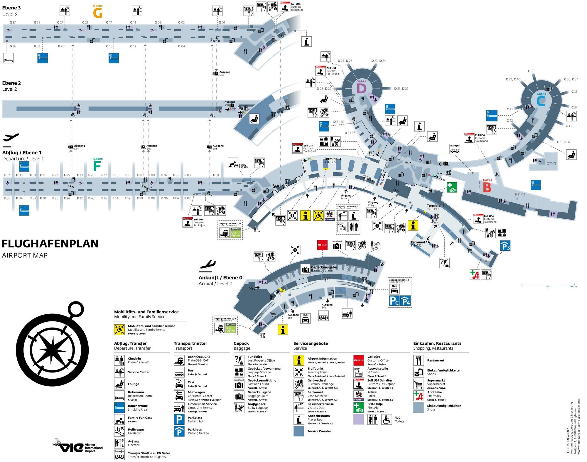 Схема аэропорта Вены